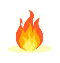 flat fire icon isolated on white vector image