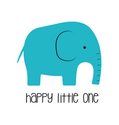 Funny kids print elephant vector
