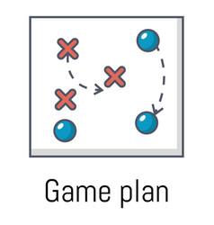 Game plan icon cartoon style vector
