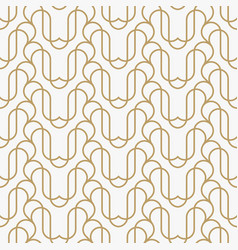 geometric line ornament seamless pattern modern vector image