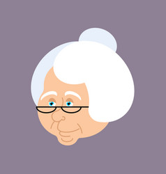 Grandmother portrait old woman face crone vector
