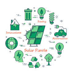 green icons for alternative innovations vector image