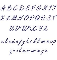 Hand drawn calligraphic font Thin italic vector