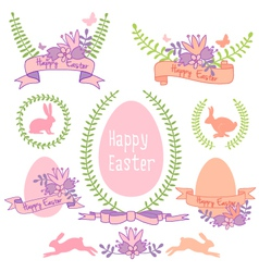 Happy Easter design set vector