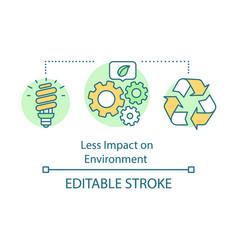 Less impact on environment advantage concept icon vector
