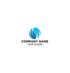 letter wm in wave logo design vector image