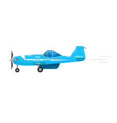 Light airplane isolated flying fast aircraft vector