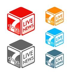 Live news symbol vector
