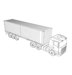 Logistic container truck vector