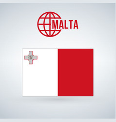malta flag isolated on modern background with vector image