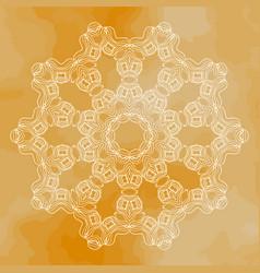 Mandala art vintage design element vector