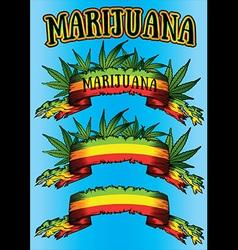 Marijuana cannabis paper parchment jamaican colors vector image