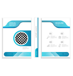 modern business brochure design template cover vector image