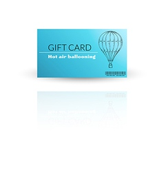 Modern gift card template with balloon vector image