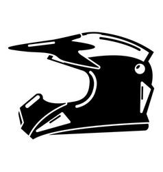 Motorcycle helmet icon simple black style vector