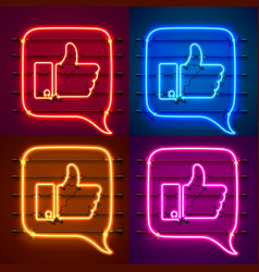 neon sign color set template design element vector image