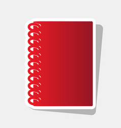 notebook simple sign new year reddish vector image