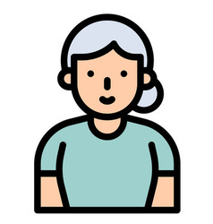 old woman filled style icon vector image