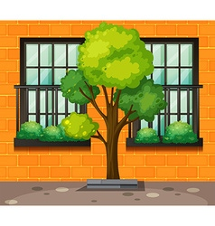 Outside building vector
