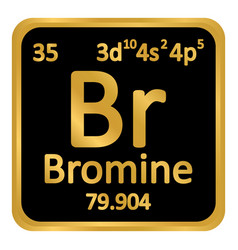 periodic table element bromine icon vector image