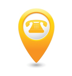 phone icon yellow pointer vector image