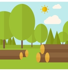 Pile drywood vector