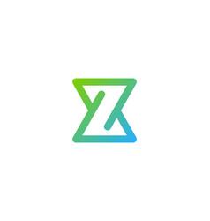 pixel letter z logo icon design vector image