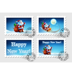 Postage stamp for an envelope with a letter vector
