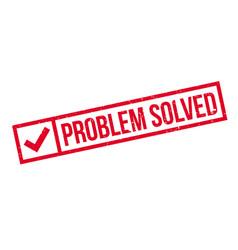 Problem solved rubber stamp vector