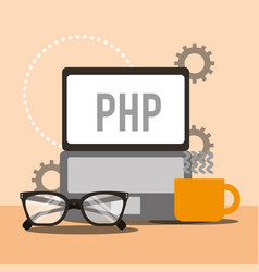 program coding website vector image