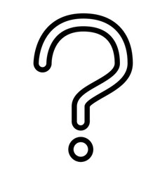 question mark line icon ask vector image