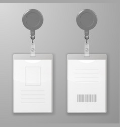 Realistic blank office graphic id cards vector