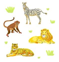 safari animals set vector image