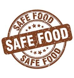 Safe food brown grunge round vintage rubber stamp vector