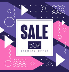 sale banner special offer 50 percent off vector image