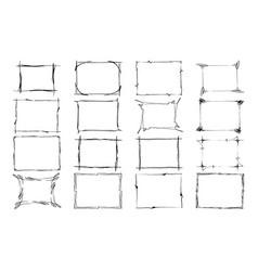 set of frames rectangles for image hand vector image