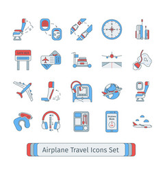 set of isolated thin lined outlined icons for vector image