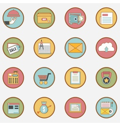 Set of retro business icons - part 2 vector image