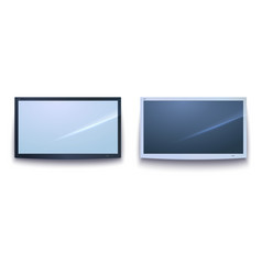 set of smart tv icons dark and light tv screen vector image