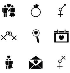 sexual icon set vector image