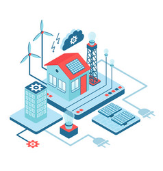 Smart home isometric vector
