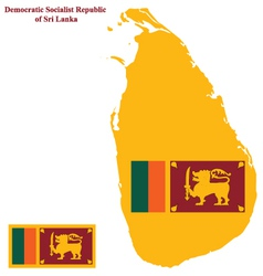 Sri Lanka Flag vector image