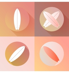Surfboards icons set made in modern flat design vector image