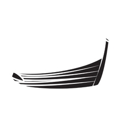 Thai boat icon in simple style vector