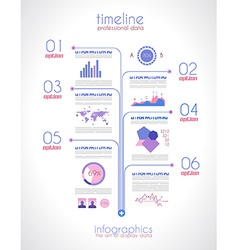 Timeline to display your data vector image