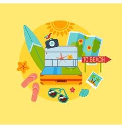 trip beach flat vector image