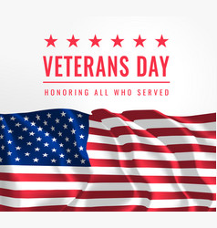 Veterans day honoring all who served november vector