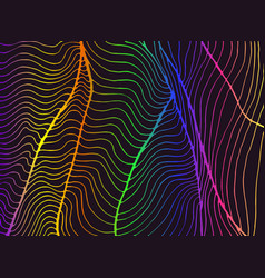 vintage psychedelic bright abstract ornament waves vector image