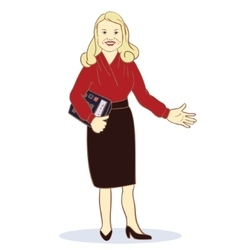 Accountant Featuring a Female vector image vector image