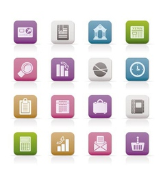 business and office realistic internet icons - vec vector image